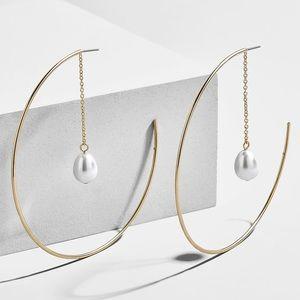 BaubleBar Ashanti Gold Hoop Earrings